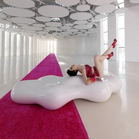 Karim Rashid // LAVA Bench (White)