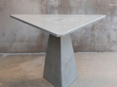"Photo of James De Wulf Avant-Garde Aesthetic Furniture Triangular Locking Dining Table (48""W x 48""D x 29.5""H) by Touch Of Modern"