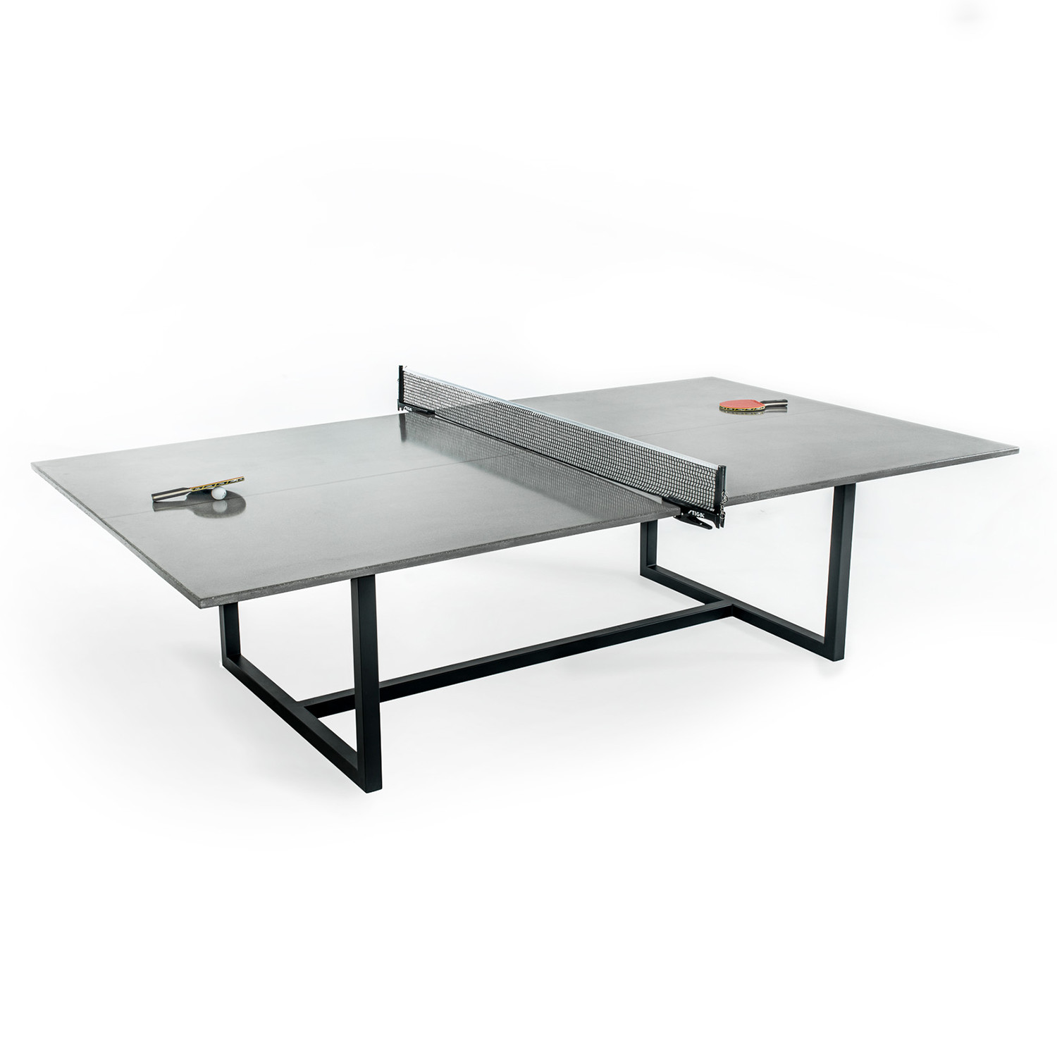 vue ping pong table stainless steel base james de wulf. Black Bedroom Furniture Sets. Home Design Ideas