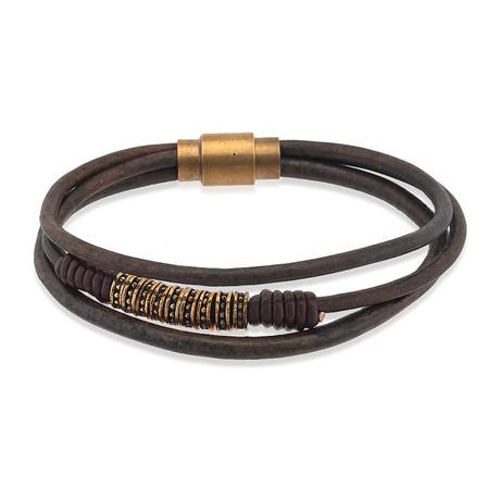 Bodrum Leather Bracelet // Brown