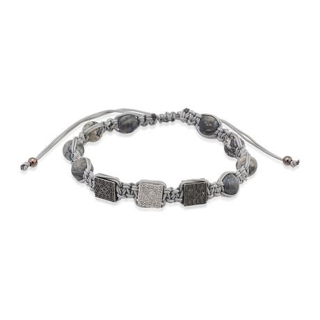 Foca Leather Bracelet // Grey