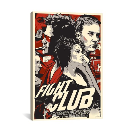 "Fight Club (18""W x 26""H x 0.75""D)"