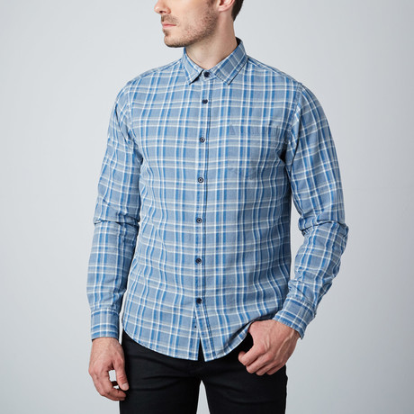Long-Sleeve Shirt // Indigo Check