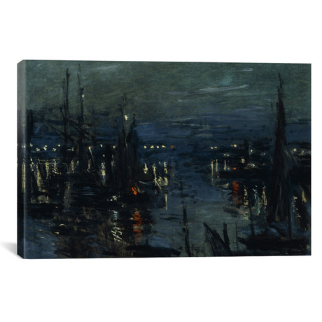 "The Port of Le Havre, Night Effect // Claude Monet // 1873 (18""W x 26""H x 0.75""D)"