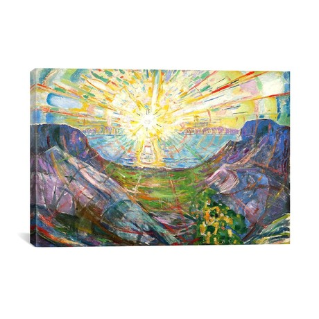 "The Sun #2 // Edvard Munch // 1916 (18""W x 26""H x 0.75""D)"