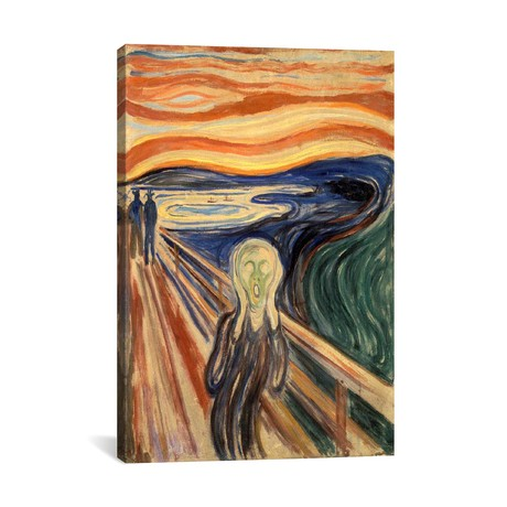 "The Scream // Edvard Munch // 1910 (18""W x 26""H x 0.75""D)"