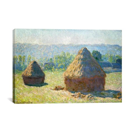 "Haystack - End of the Summer // Claude Monet // 1891 (18""W x 26""H x 0.75""D)"