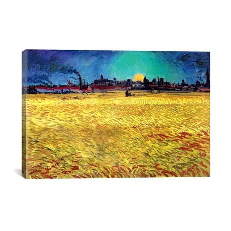 """Sommerabend // Vincent van Gogh // 1888 (18""""W x 26""""H x 0.75""""D)"""
