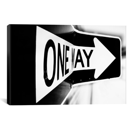 "Which Way (One Way) // Bob Larson (18""W x 12""H x 0.75""D)"