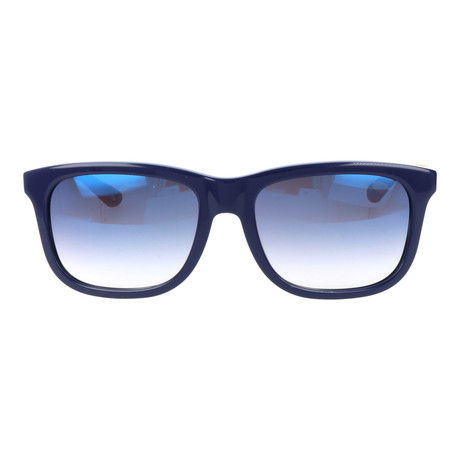 Augustin Sunglass // Dark Blue + Grey