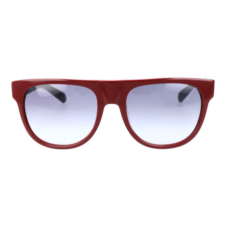 Gaspard Sunglass // Burgundy + Orange + Grey