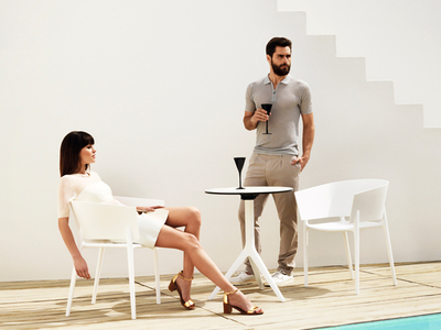 Photo of VONDOM® Spanish-Designed Housewares Eugeni Quitllet // Africa Chair // Set of 4 (White) by Touch Of Modern