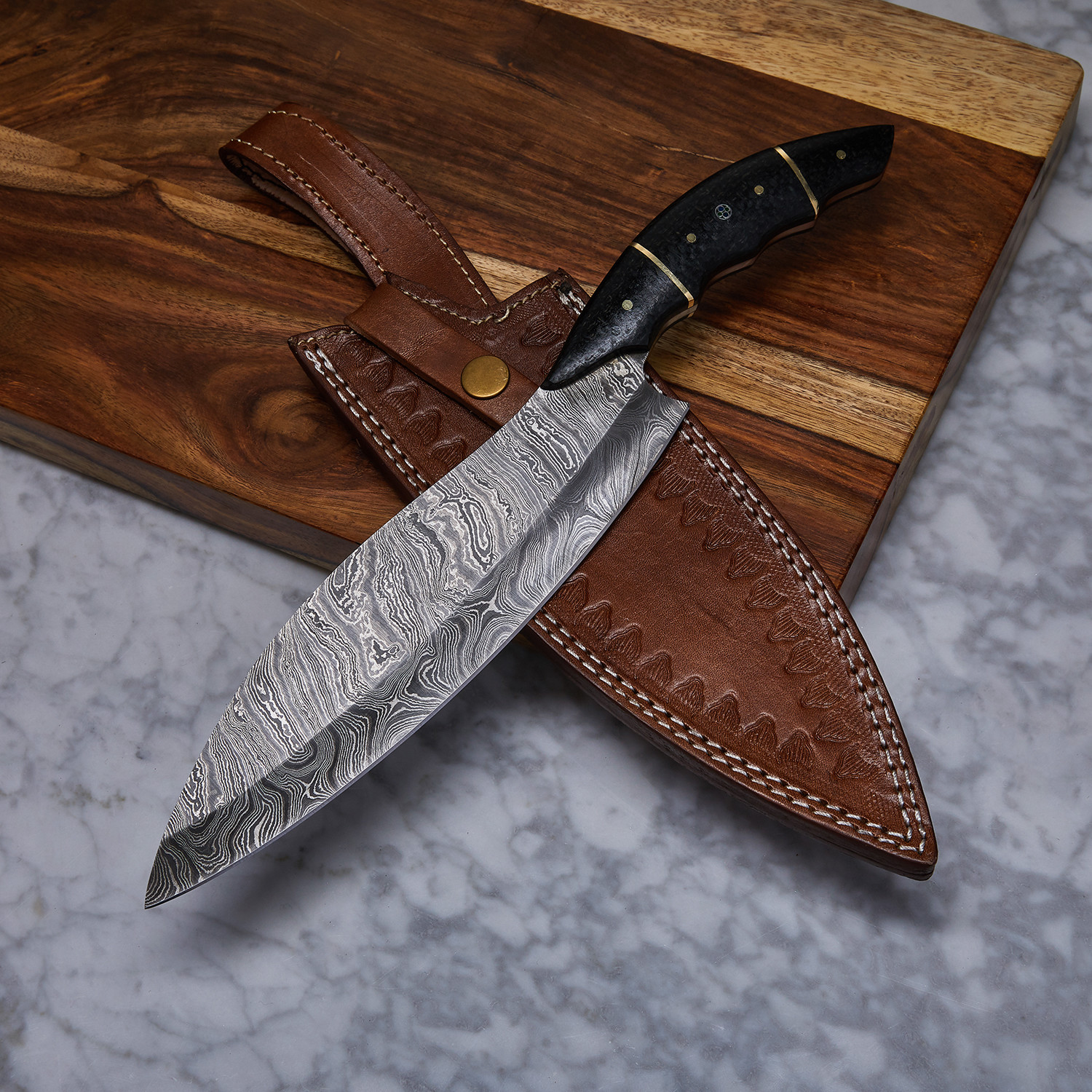 custom kitchen knives handmade damascus kitchen knife kch 24 evermade traders touch of modern 3229