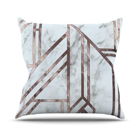 Dark Marble Mosaic // Throw Pillow