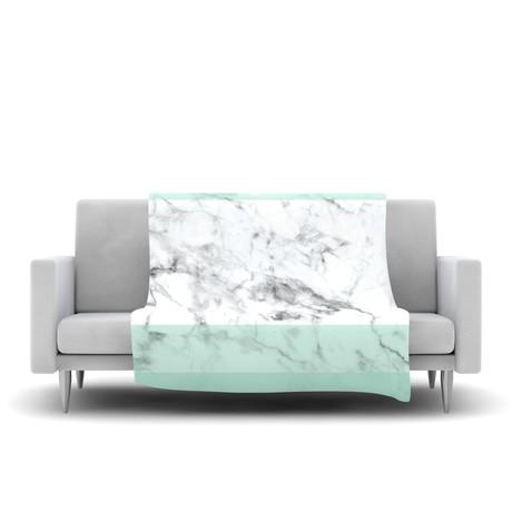 Mint Marble Fade // Fleece Blanket