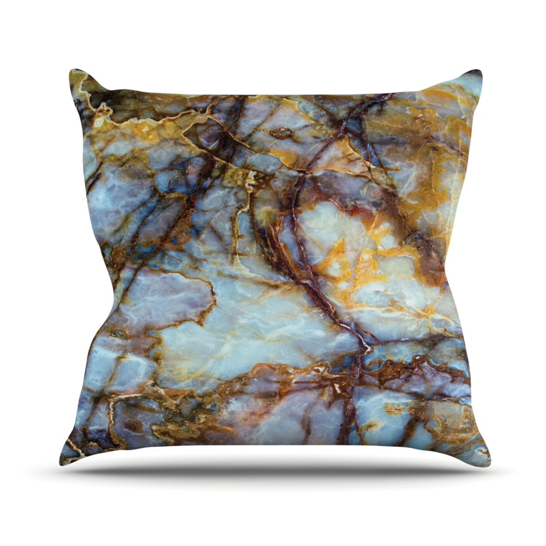 Throw Pillows 26 X 26 : Opalized Marble // Throw Pillow (26