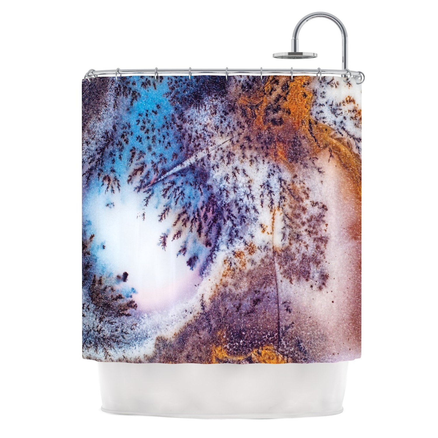 395e25977f6d8a299d0470df5f8406db Medium Snow Agate Shower Curtain
