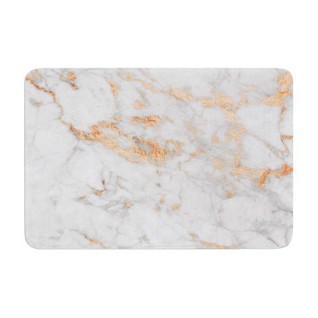 "Rose Gold Flake // Bath Mat (17""L x 24""W)"