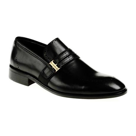 Band Slip-On Dress Shoe // Black