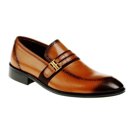 Band Slip-On Dress Shoe // Tobacco