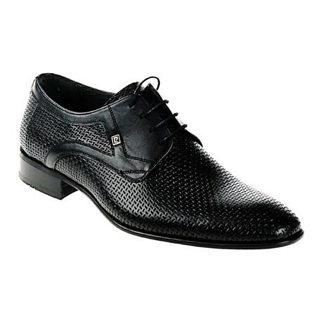 Textured Dress Shoe // Black