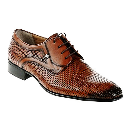 Textured Dress Shoe // Tobacco