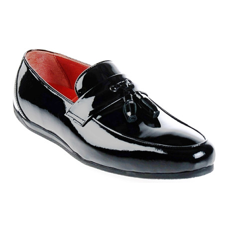 Patent Leather Moccasin // Black