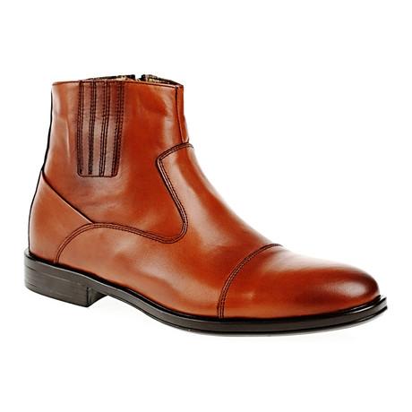 Plain Toe Cap Boot // Tobacco