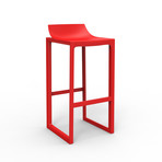 Eugeni Quitllet // Wall Street Bar Stool // Set of 2 (Red)