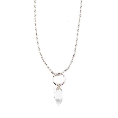 Tear Drop Necklace // Glass