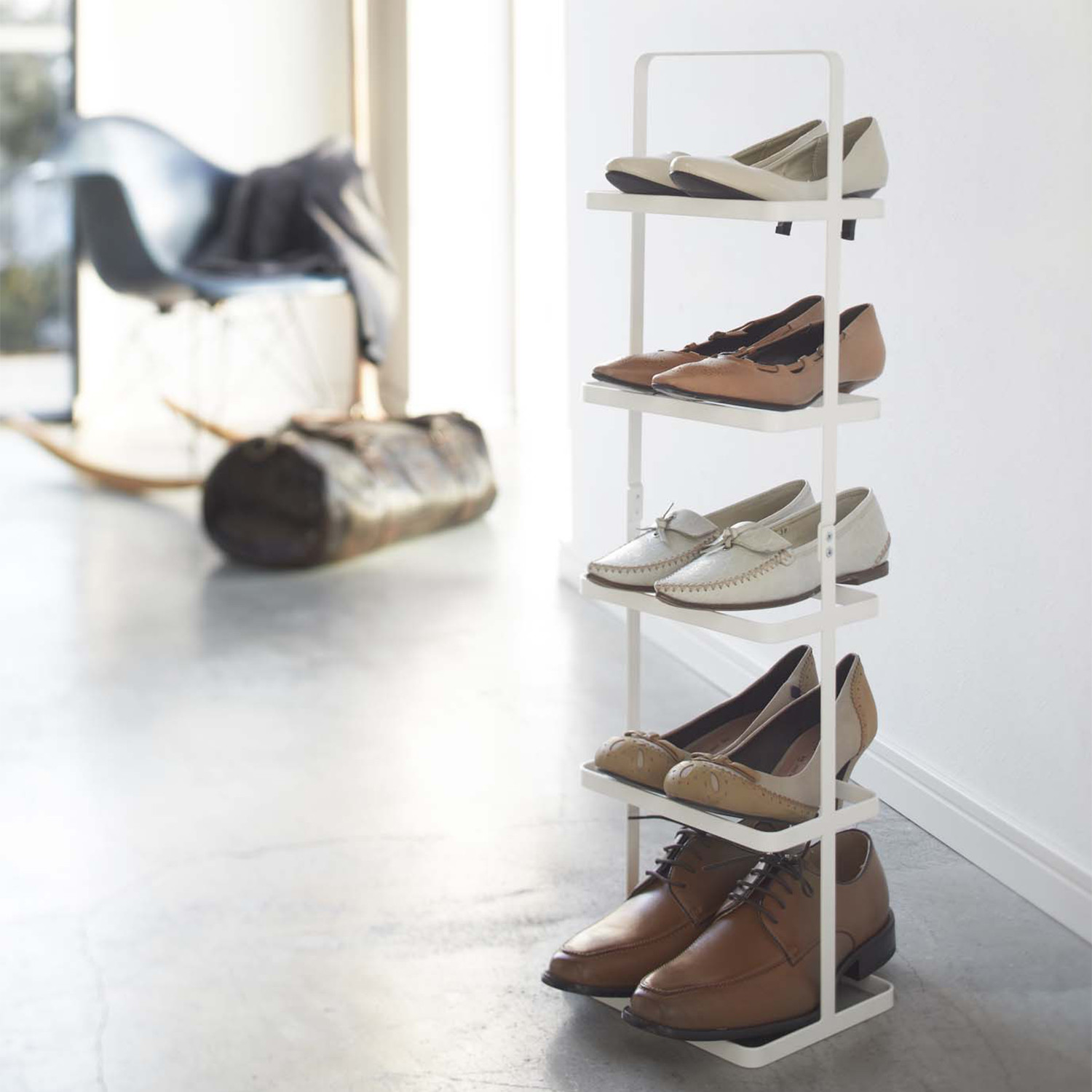 Tower Shoe Rack White