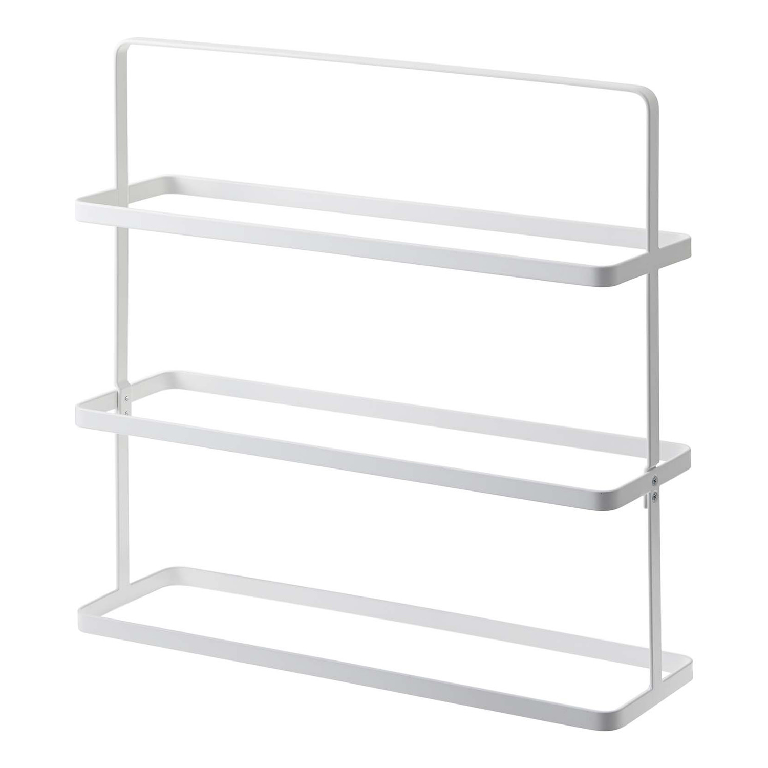 Tower Shoe Rack Wide White