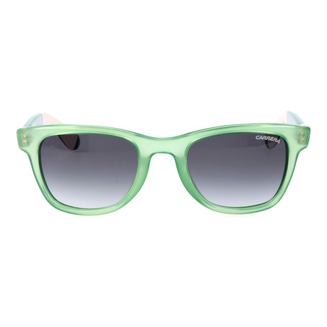 Frosted Thick Frame Wayfarer // Green