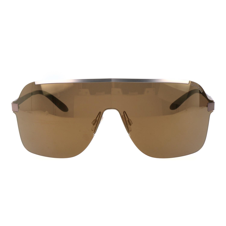 bc7bbe92f289 Rimless Shield Sunglasses // Silver + Brown - Carrera Sunglasses ...