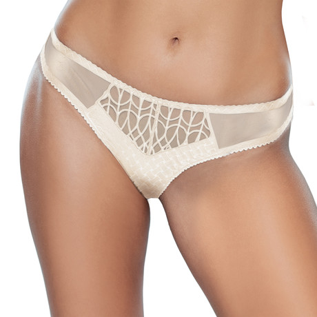 Angele Brazilian Style Panties // Ecru
