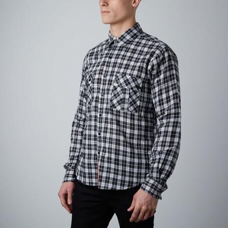 Long-Sleeve Plaid Shirt // Black