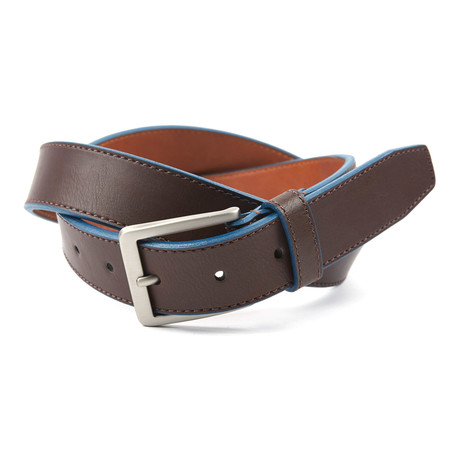 "Cut Edge Casual Belt // Brown + Navy (38"" Waist)"