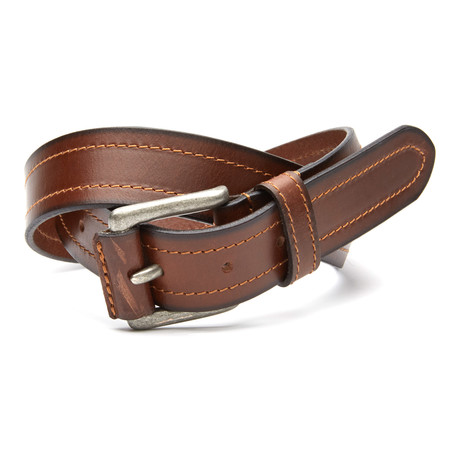"Covered Buckle Casual Belt // Brown (32"" Waist)"