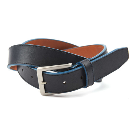 "Cut Edge Casual Belt // Black + Navy (38"" Waist)"