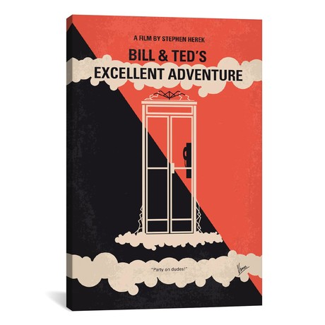"""Bill & Ted's Excellent Adventure Minimal Movie Poster // Chungkong (26""""W x 40""""H x 1.5""""D)"""
