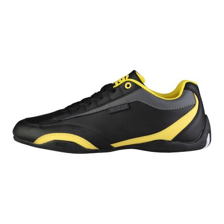 Zandvoort Low-Top Sneaker // Black + Yellow (Euro: 40)