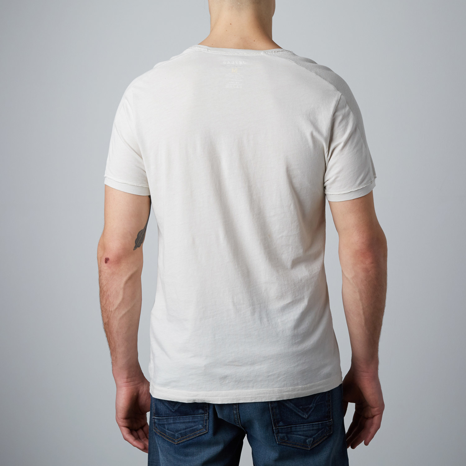 Thermal Shoulder T Shirt Off White S Jetlag Touch