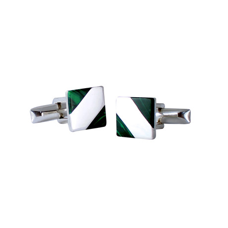 Cufflinks With Green Turquoise