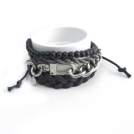 Bead + Chain Bracelets // Set of 4