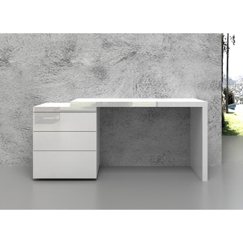 Modern Design High Gloss White White Glass Nest Of 3: Nest // Office Desk (High Gloss White Lacquer