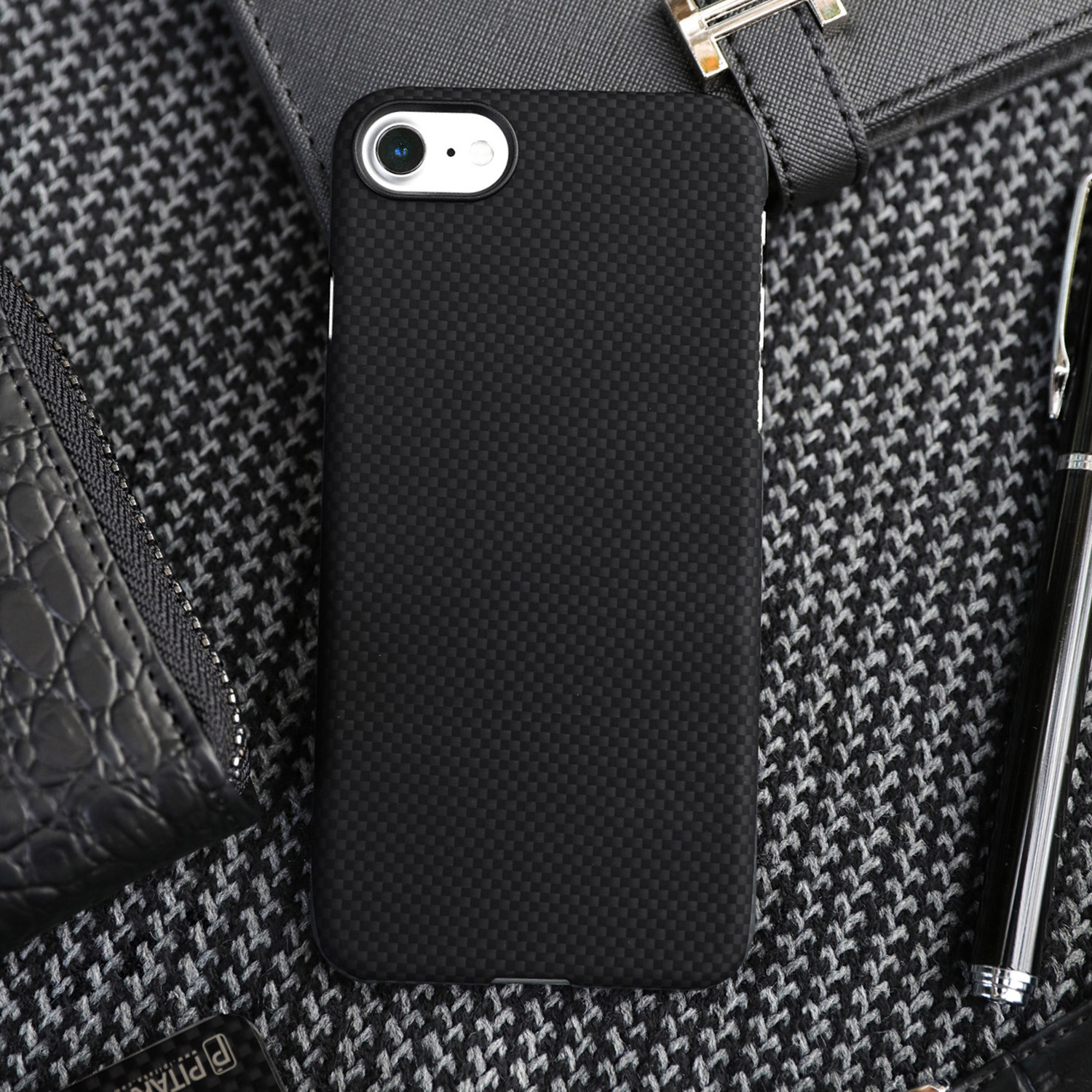 online store a2069 e3144 Aramid Fiber Minimalist Phone Case // Black + Grey (iPhone 6/6S Plus ...
