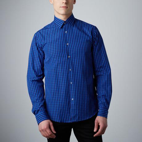 Tory Button-Up // Blue + Navy