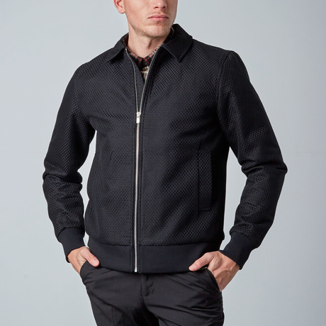 Pilot Textured Jacket // Black