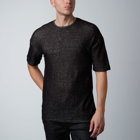 Cohen Cotton Short-Sleeve // Black