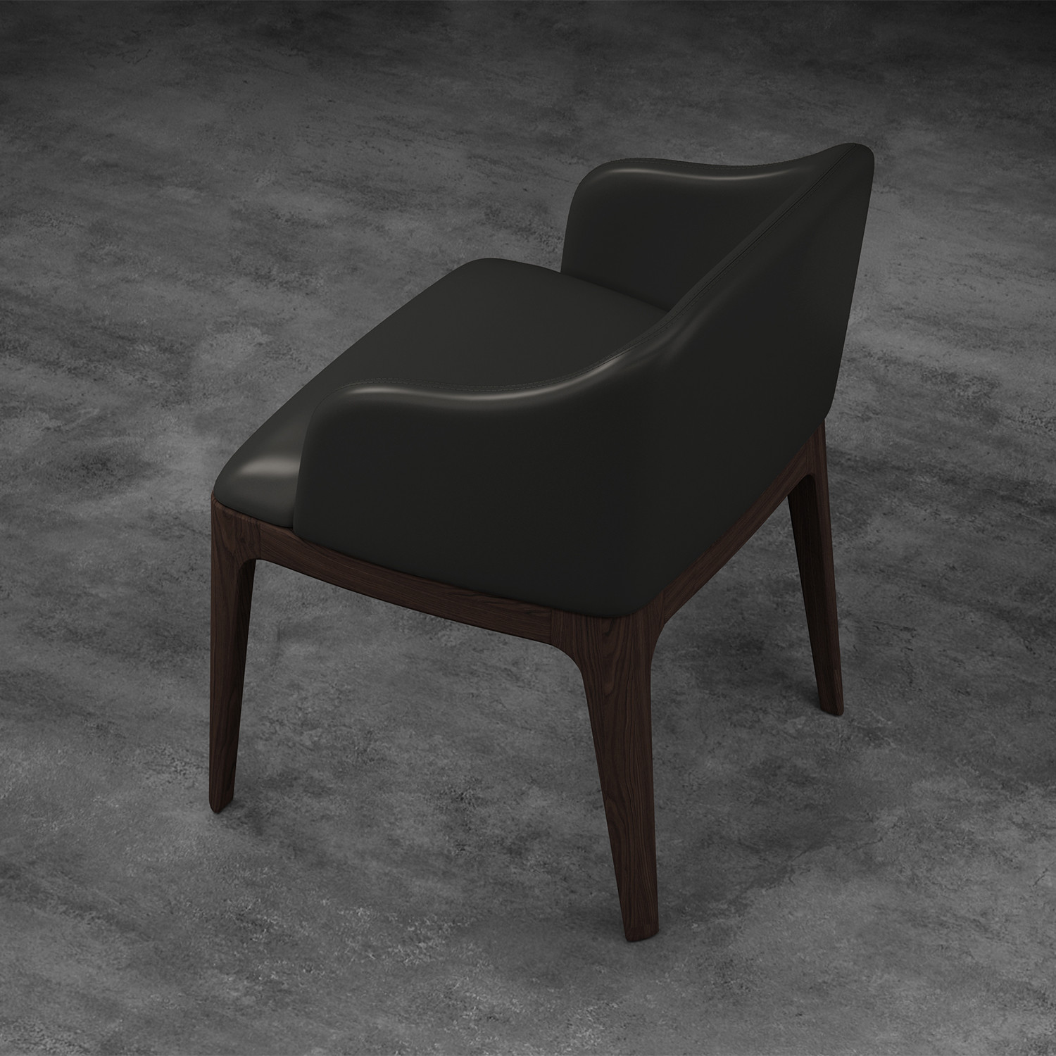 Wooster Dining Arm Chair (Gunmetal)